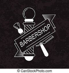 Composition of the set icons for the Barber shop. Vector...