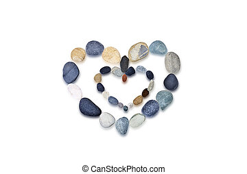 Composition of the stones. Heart.