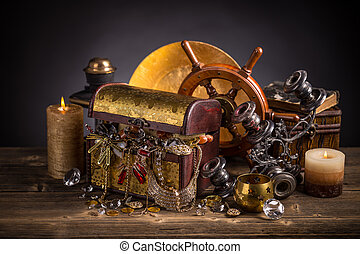 Composition of treasure chest
