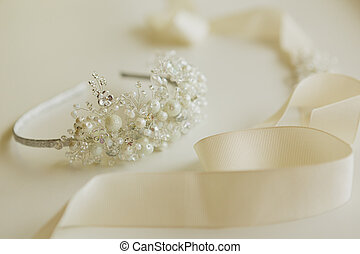 composition of wedding accessories bride - The composition ...