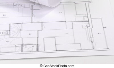 Composition on a table - Footage of architecture composition...