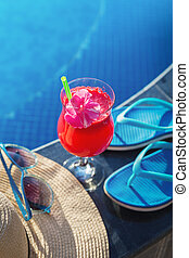 composition, piscine, natation