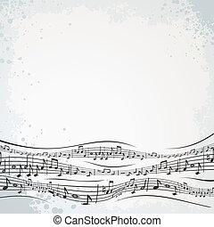 composition., résumé, musical, fond
