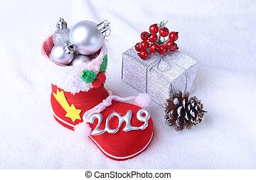 composition., regalo, snowflakes., penne, billowy, santa,...