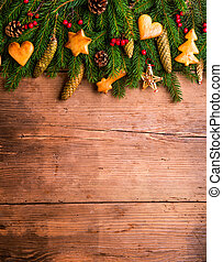 composition., schot., studio, kerstmis