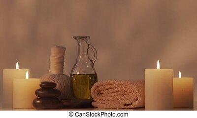 composition., spa, meditation., thérapie, oriental, bien-...