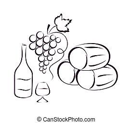 composition., vinho