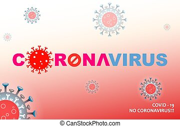 Composition with abstract silhouette of coronavirus elements...