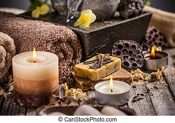 Composition with candles