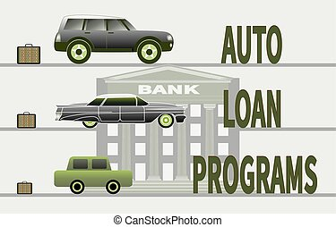 Concept of buying a car and car loan programs
