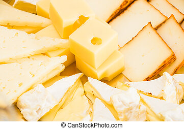 Composition with different sorts of cheeses