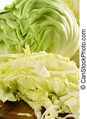 Composition with fresh cabbage