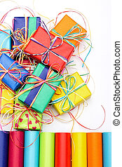 Composition with gifts - Composition of many colorful gifts...