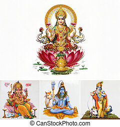 composition with hindu gods