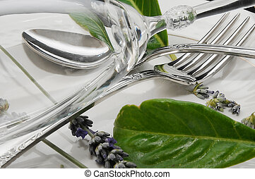 composition with knives and forks