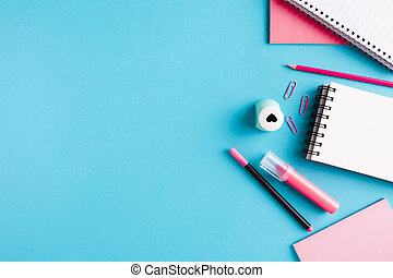 composition with office tools desk. High quality and resolution beautiful photo concept