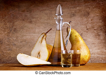 composition with pear brandy - still life composition with...