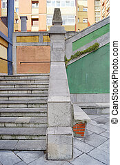 Composition with staircase