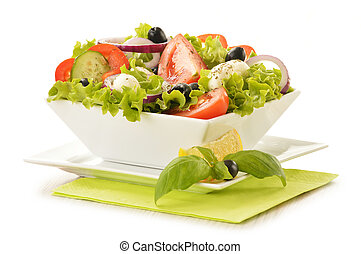 Composition with vegetable salad bowl