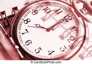 composito, calendario, faccia orologio