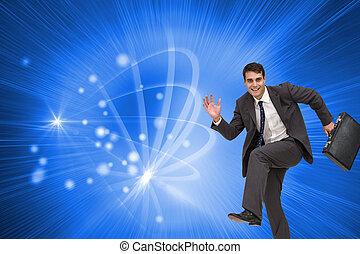 composito, uomo affari, hury, immagine, felice