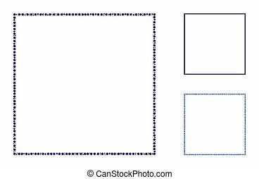 composizione, cerchi, quadrato, incorniciare icona