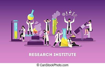 composizione, ricerca, scienza, appartamento