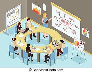 composizione, riunione, formazione affari