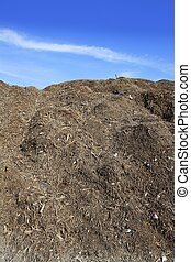Compost big mountain outdoor ecological recycle