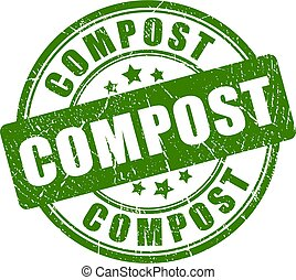 Compost vector stamp