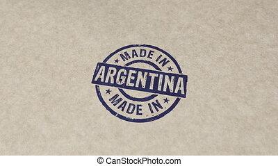 compostage, animation, fait, argentine, timbre