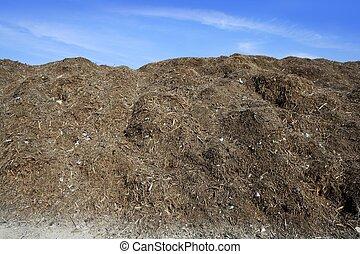 composting, ekologisk, kompost, utomhus, lager