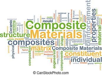 composto, conceito, fundo, materiais