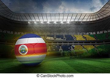 composto, cores, costa, futebol, rica, imagem