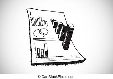 composto, doodle, imagem, dados, análise