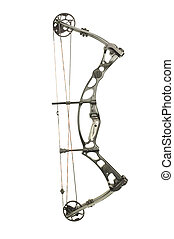 modern, compound hunting bow isolated on white