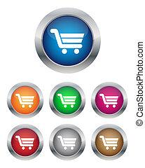 compra, carreta, botões, adicionar, agora, ou