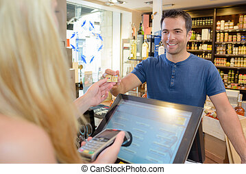 compra, local, salud, tienda