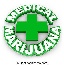 compra, médico, marijuana, legal, sinal, positivo, tratamento, pote, pres