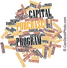 compra, programa, capital