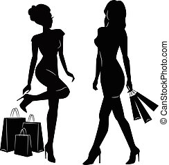 comprar mulheres, silhuetas