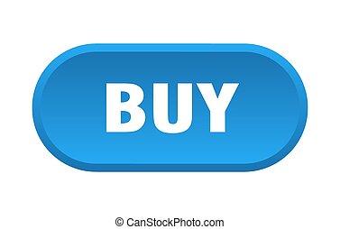 comprar, señal, fondo blanco, button., redondeado