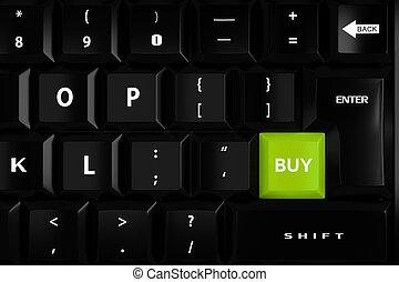 comprare, 3d, chiave, tastiera