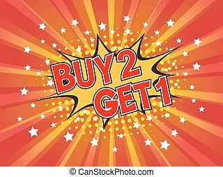 comprare, ottenere, scoppio, 1, discorso, fondo, libero, 2, comico, bolla, dicitura