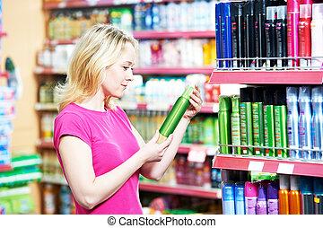compras, aire, o, freshener, desodorante, mujer