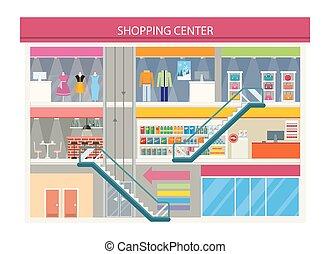 compras, buiding, diseño, centro