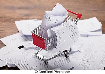compras, carrito, recibos