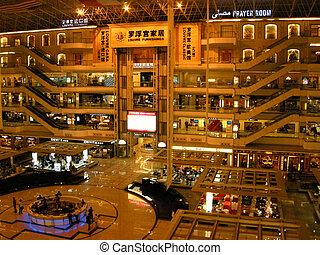 compras, center(guangzhou, muebles, china), multistorey