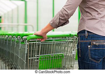 compras de mujer, supermercado, carrito