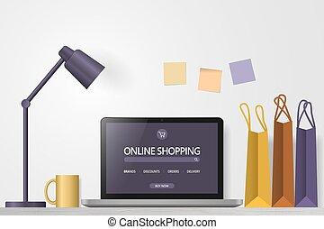 compras en línea, tienda